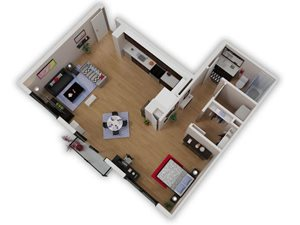 Capitol Yard Apartments_ West Sacramento CA_Floor Plan_Studio 4